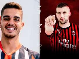 Milan y y Eintracht cierran el trueque André Silva-Rebic. Collage/ACMilan/Eintracht