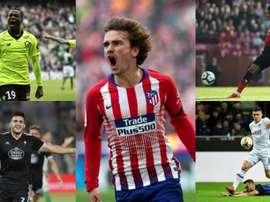 Barça's shortlist for their new 'number 9'. EFE/AFP