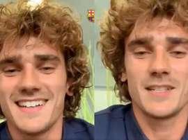 Griezmann já chegou a Barcelona. Collage/FCBarcelona
