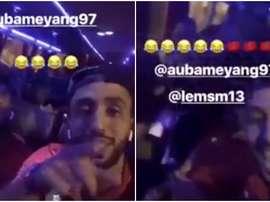 Benatia se mofó de Aubameyang en Instagram por la polémica del zumo. BeSoccer