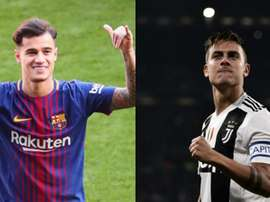 Juve want a Dybala-Coutinho exchange. EFE/AFP