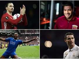 Cristiano Ronaldo, Hulk, Ibrahimovic y Morgan están en la lista. BeSoccer