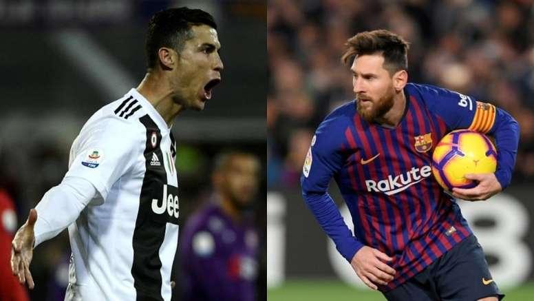 Cristiano y Messi también son los reyes en popularidad. AFP/EFE