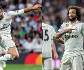 Zidane quer recuperar o melhor nível de Carvajal e Marcelo. EFE