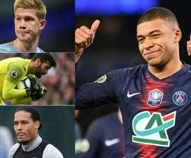 De Bruyne, Alisson, Van Dijk and Mbappé all make the most expensive XI. AFP
