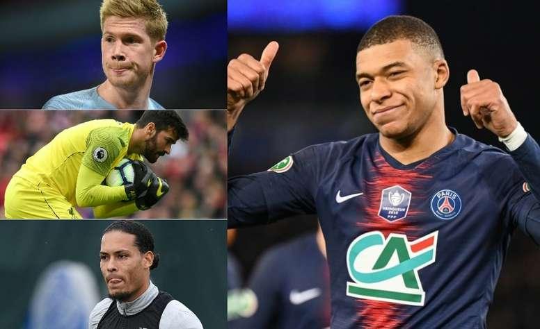 El once más caro del mundo del fútbol. AFP