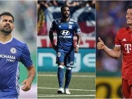 Diego Costa, Lacazatte y Lewandowski han comenzado bien la temporada. BeSoccer