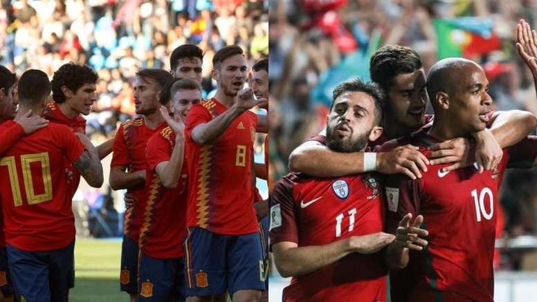 Le match Espagne - Portugal est le match le plus attractif de cette première journée. EFE/BeSoccer