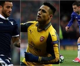 Felipe Anderson, Alexis Sánchez e Hazard são alguns dos maiores dribladores da Europa. BeSoccer