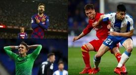 Piqué, Bartra et Marc Roca, candidats au titre de meilleur joueur catalan en 2019. EFE