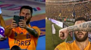 Gignac celebró el gol tirándose un 'selfie'. Captura/TDN/Gignac