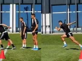 A diferença entre arrancadas de Cristiano e Higuaín. Collage/JuventusFC