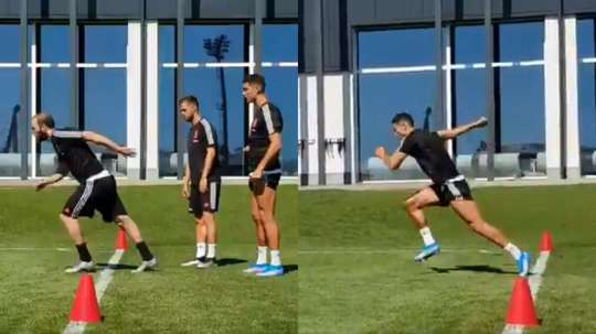 Comaprisons between Cristiano's run and Higuain's swarmed social media. JuventusFC