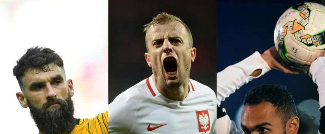 Jedinak, Grosicki y Elmohamady no pertenecen a un equipo de primera. EFE/AFP