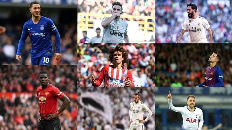 Dez transferências que podem superar os 100 milhões de euros. Collage/BeSoccer