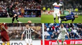 Le onze de rêve que Lyon a vendu pour presque 280 millions d'euros. EFE/AFP