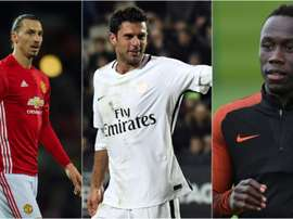 Ibra, Thiago Motta y Sagna son tres de los jugadores libres más interesantes. BeSoccer