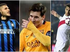 Icardi, Messi y Paolo Guerrero debutaron directamente en Europa. BeSoccer