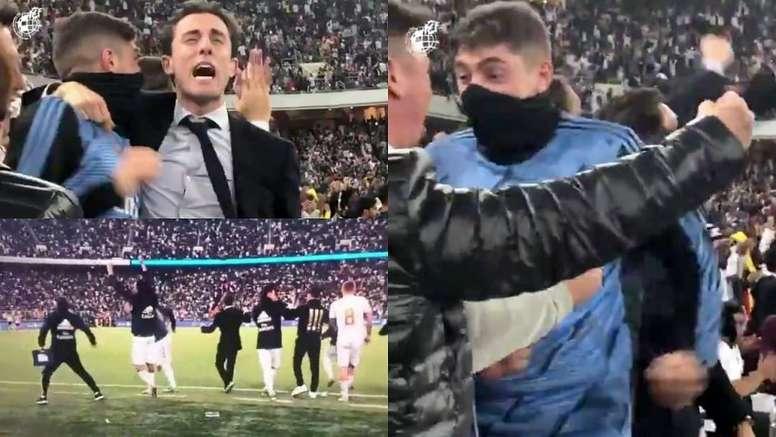 Así vivieron los jugadores los penaltis.  Captura/RFEF/RealMadridTV