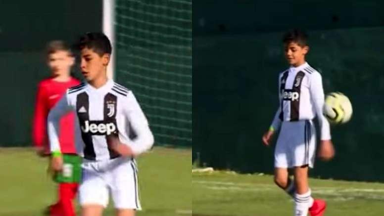 Cristiano Júnior assinou sete golos num encontro na Madeira. Captura/EUVI