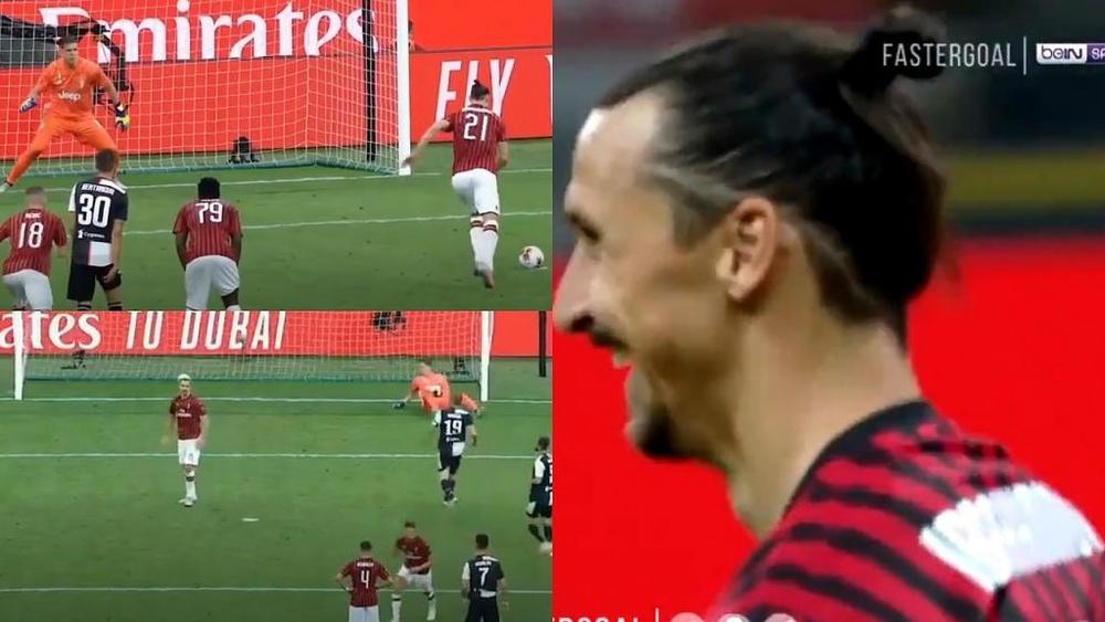 Ibrahimovic se rio de Cristiano. Captura/beINSports