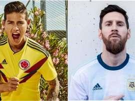 Les maillots de la Copa América. Montage/BeSoccer