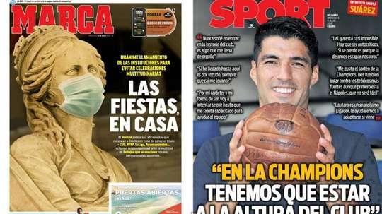 Portadas de Marca y Sport del 15-07-2020. Marca/Sport