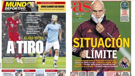 Portadas de la prensa deportiva del 23-01-21. MD/AS