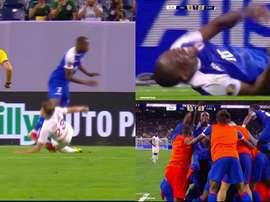 Haití remontó a Canadá y se metió en semifinales. Captura/FOXSports