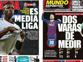 As capas da imprensa esportiva. AS/MD