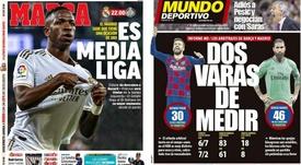 As capas da imprensa esportiva. AS/MD
