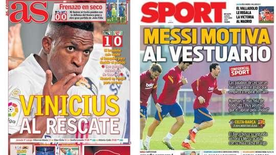 Portadas de la prensa deportiva del 01-10-20. AS/Sport