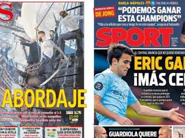 As capas da imprensa esportiva. Sport/AS