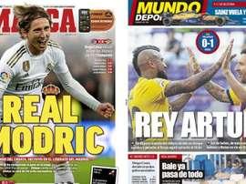 Les Unes des journaux sportifs en Espagne du 12 juillet 2020. Marca/MD
