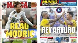 As capas da imprensa esportiva.Marca/MD