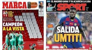 Portadas de Marca y Sport del 14-07-2020. Marca/Sport
