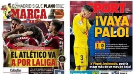 As capas da imprensa esportiva de 22 de novembro de 2020. Marca/Sport