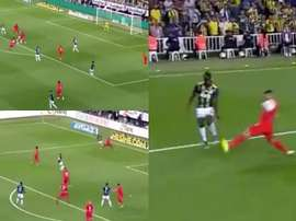 Fenerbahce got three penalties inside 23 minutes in the Turkish league. Captura/beINSports