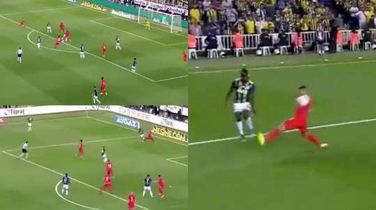 Al Fenerbahçe le pitaron tres penaltis en 23 minutos. Captura/beINSports