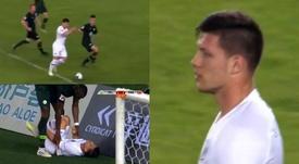 Jovic marcó un gol y dio un pequeño susto al final. Captura