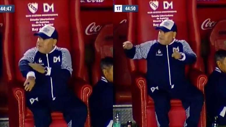 Maradona pidió el VAR, pero en Argentina no hay. Captura/TNTSports