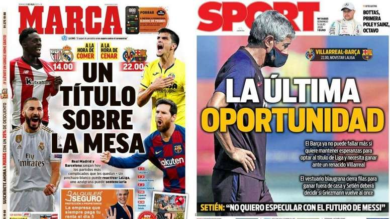 Portadas de la prensa deportiva del 05-07-20. Marca/Sport