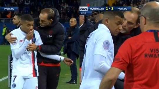 Tensão entre Mbappé e Tuchel por uma substituição. Captura
