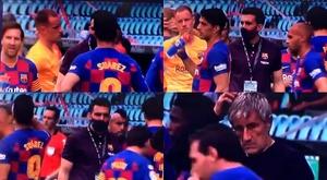 O desprezo de Messi a Eder Sarabia em Balaídos. Captura/Movistar