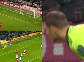 Neuer mostra quem manda no gol alemão. /Captura