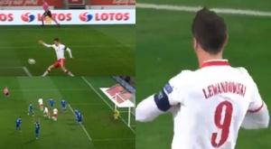 Lewandowski scored two goals and gave an assist. Captura