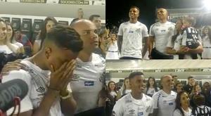 Les larmes d'adieu de Rodrygo à Santos. SantosFC