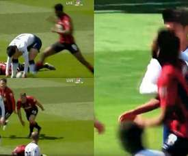 Son was sent off for his reckless behaviour. Screenshot/NBC