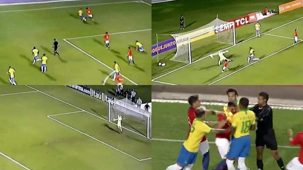 Chile y Brasil protagonizaron una fuerte pelea en amistoso Sub 23