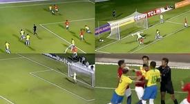 Tuvo de todo el Brasil-Chile Sub 23. Captura